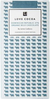 Love Cocoa Organic Avocado 70% Dark Chocolate Bar 80g x12