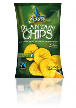 Zamora Plantain Chips. Lightly salted - 15x45g