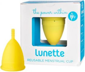 Lunette Yellow (Model 1 - Easy Flow) Reusable Menstrual Cup x1