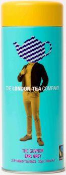 London Tea Company Fair Trade The Early Bird - London Breakfast Pyramid Tube Tin (15's) x12