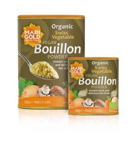 Marigold ORG Less Salt Bouillon Grey Vegan GF 6x140g