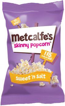 Metcalfe's Skinny Sweet ?? Salt Popcorn 25g x24