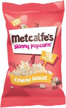 Metcalfe's Skinny Cinema Sweet Popcorn 20g x24