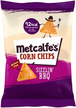 Metcalfe's Skinny Corn Chips Barbecue 22g x14