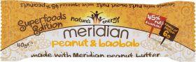 Meridian Peanut and Baobab Nut Bar 40g x18