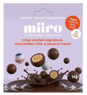 MiiRO Crispy Chocolates peanut hearts 35g x12