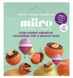 MiiRO Crunchy Spheres Dipped in signature Chocolate 35g x12