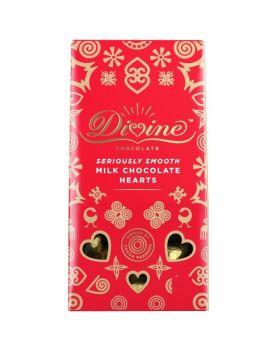 Divine Fair Trade Milk Chocolate Hearts (1x125g)