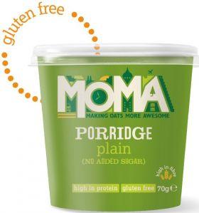 Moma Porridge Plain Pot - No Added Sugar 70g x12