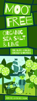 Moo Free Organic Marvellously Moreish Sea Salt and Caramel Rice Milk Cocoa Chocolate Bar 80g x12