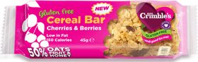BBE: 19/09/17 - Mrs Crimble's Cherries and Berries Cereal Bar 45g x18