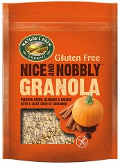 Natures Path Organic Nice & Nobbly Granola - Mixed Berries (Blueberry, Raspberry & Strawberry) 312g x8