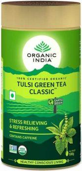 Organic India Classic Green Tea Tulsi Teabags (25's) x10
