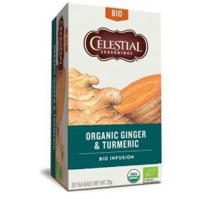 Celestial Seasonings Tea Organic Ginger & Turmeric 20gx6