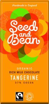 Seed and Bean Fair Trade & Organic Tangerine Rich Milk Chocolate 85g x8