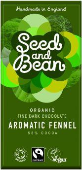 Organic Seed & Bean Fair Trade Dark Lemon & Cardamom 85g x8