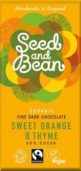 Seed and Bean Fair Trade & Organic Just Ginger Fine Dark Chocolate 85g x8