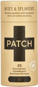 PATCH Activated Charcoal Adhesive Strips - 25 Tube