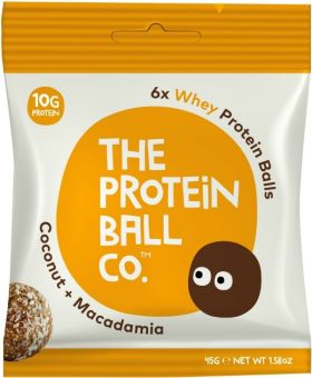 Protein Ball Co. Coconut and Macadamia (22% Whey Protein) 45g x10