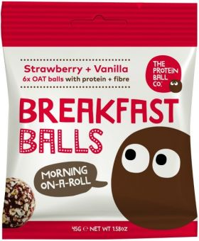 Protein Ball Co. Strawberry and Vanilla Breakfast Balls (Protein and Fibre) 45g x10