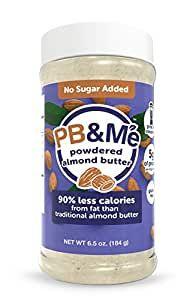 PB&Me No Added Sugar Almond Powdered Butter 184gx6