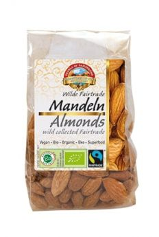Pearls of Samarkand Fairtrade and Organic Uzbek Almonds 150g x7