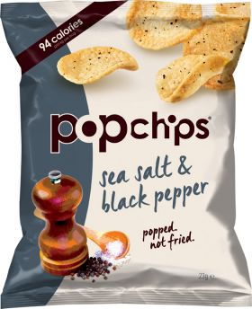 Popchips Sea Salt & Black Pepper 23g x24