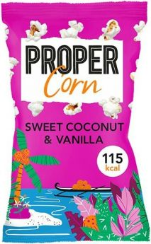 Propercorn Sweet Coconut and Vanilla Popcorn 25g x24