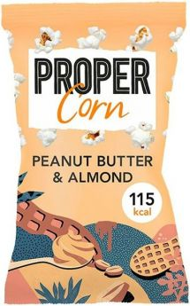 Propercorn Smooth Peanut and Almond Popcorn 25g x24