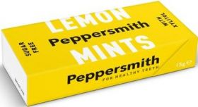 Peppersmith Xylitol Extra Strong Eucalyptus and English Peppermint (Sugar Free) Mints 15g x12