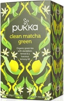 Pukka Organic Clean Matcha Green Teabags 30g (20's) x4