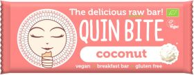 Quin Bite Organic Hazelnut Chocolate Cream Raw Breakfast Bar 30g x12