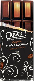 Rawr Organic & Fair Trade Raw Chocolate - 68% Cacao 60g x10