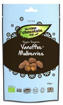 Raw Chocolate Vanoffee Mulberries 6x125g Pouches