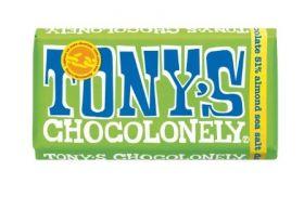 Tony's Chocolonely Fairtrade Milk Chocolate 32% Nougat 180g x15