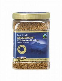 Traidcraft Fair Trade Medium Roast Freeze Dried Coffee 450g Tub x1