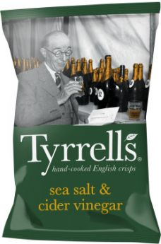 Tyrrells Sea Salt and Cider Vinegar Hand-Cooked English Potato Crisps 40g x24