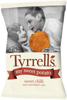 Tyrrells Sweet Chilli Hand-Cooked English Sweet Potato Crisps 35g x24
