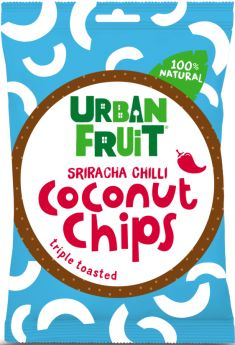 Urban Fruit 100% Natural Triple Toasted Coconut Chips - Sriracha Chilli 25g x14