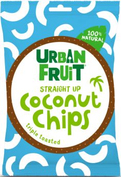 Urban Fruit 100% Natural Triple Toasted Coconut Chips - Straight Up 25g x14