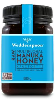 Wedderspoon KFactor 12 RAW Manuka Honey 250g x6