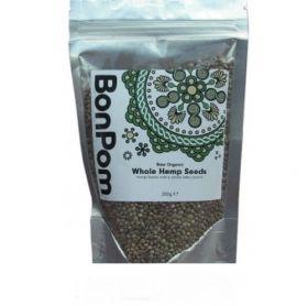 BonPom Raw Organic Hemp seeds whole 1 x200g